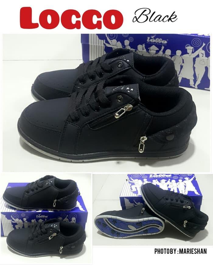 Sepatu sekolah anak laki laki perempuan KETS full hitam BLACK / Sepatu sekolah hitam SD terbaru