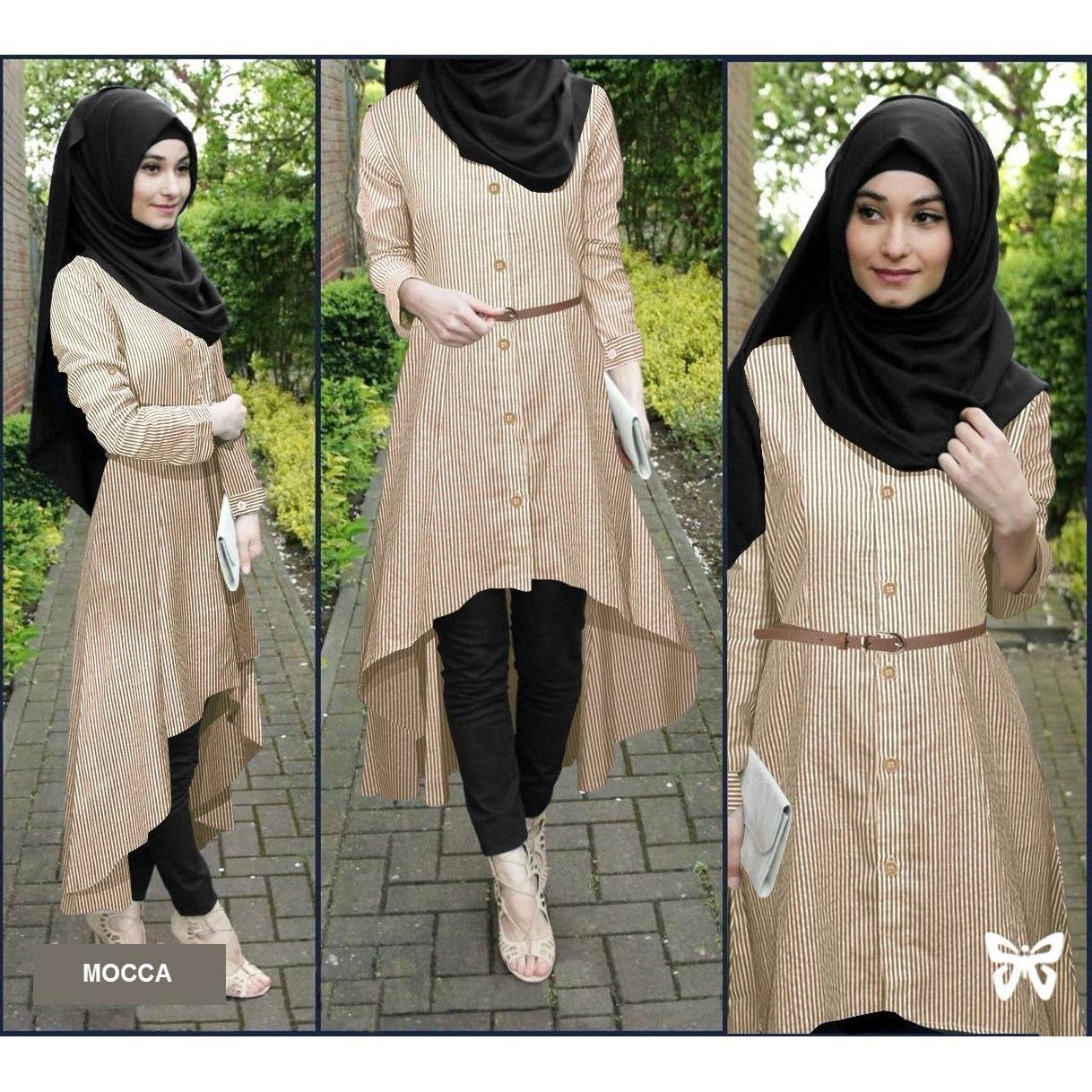 Spesifikasi Flavia Store Baju Muslim Wanita Set 4 In 1 Salur Fs0692 Coklat Mocca Setelan Muslimah Stelan Gamis Hijab Atasan Blouse Terusan Kemeja Tunik Lengan Panjang Garis Bawahan Celana Srsafirasalur Beserta Harganya