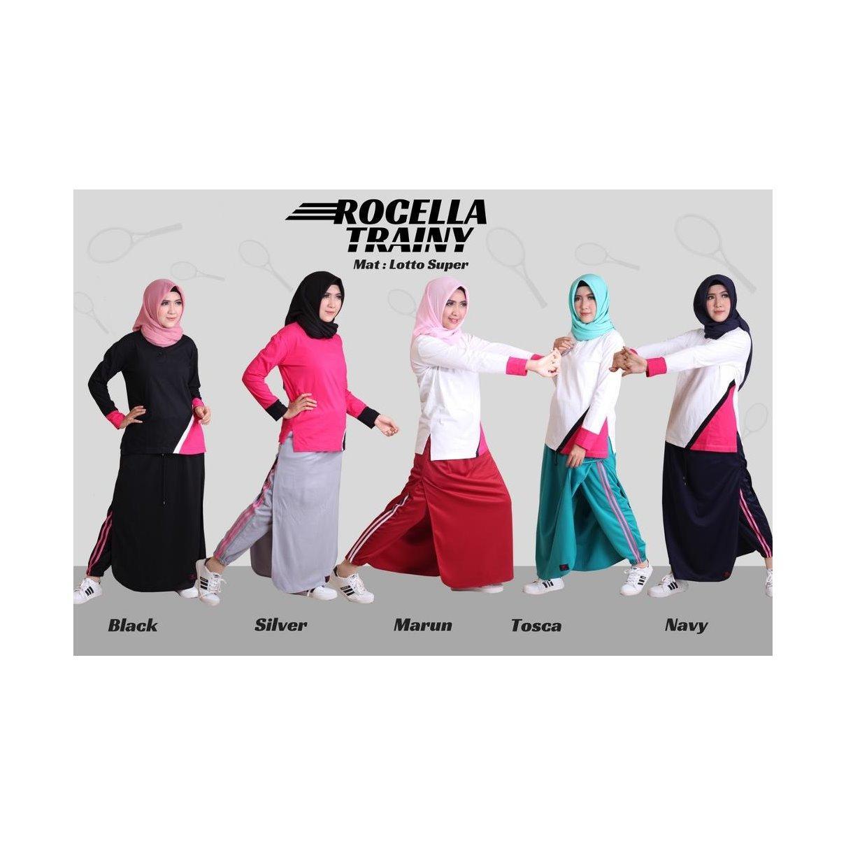 Rok Celana Trainy - Celana Olahraga - Rok Celana Training - Rocella Sporty Muslimah Trendy