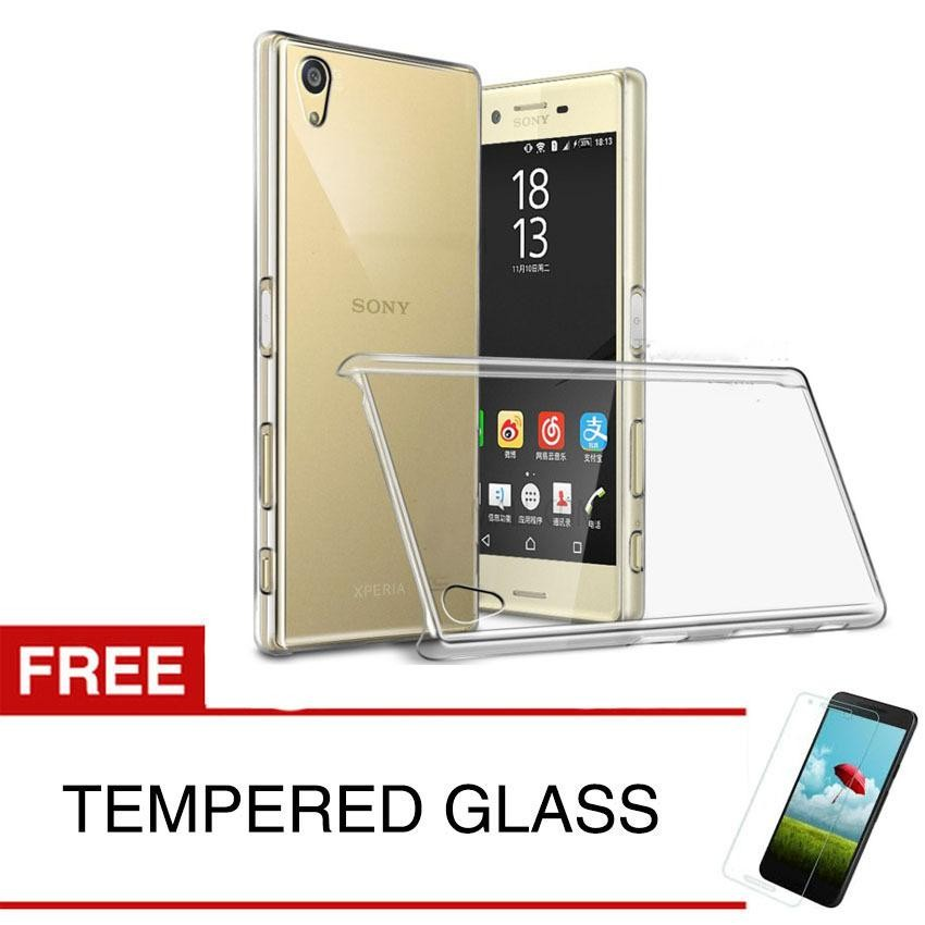 Crystal Case for Sony Xperia X Performance / F8132 - Clear Hardcase +  Gratis Tempered Glass
