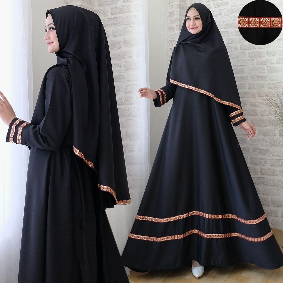 Suki Baju Gamis Muslim Rayha / Dress Muslimah / Hijab Muslim / Gamis Syari'I / Baju Gamis / Fashion Muslim / Setelan Muslim / Hijab Wanita / Baju Muslim / Maxi Gamis / Fashion Muslim