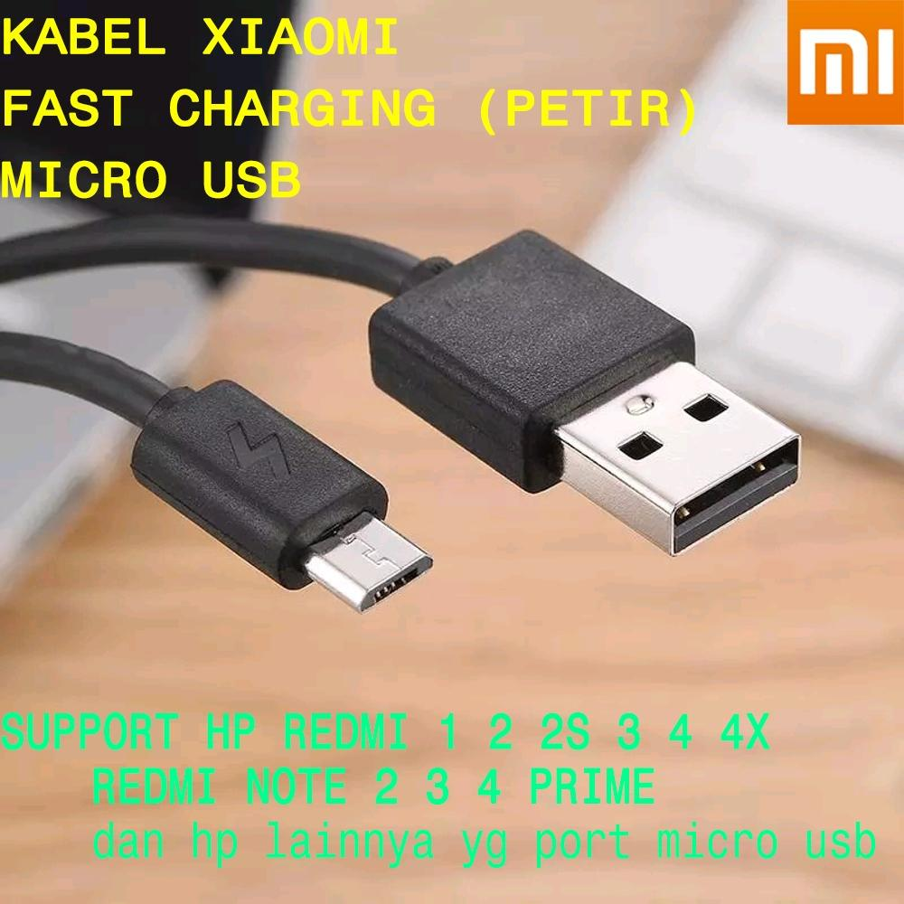 Cek Harga Baru Kabel Data Xiaomi Redmi Mi Note Original Ori 100 Charger 3 4 4i Fast Charging 2a Cable Xiomi For Series Micro Usb
