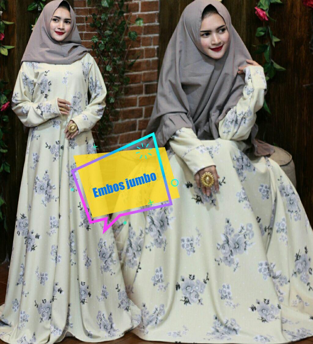 Beli Nurul Collection Baju Muslim Wanita Murah Gamis Syari Dress Muslim Gamis Busui Gamis Gliter Gamis Putih Klok 4M Yang Bagus