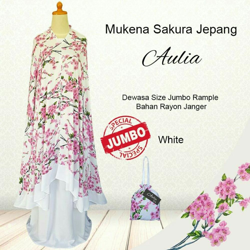 Mukena Bali Sakura Jepang Katun Rayon Jumbo - Rukuh Modern Perlengkapan sholat Para Muslimah Mukenah Dewasa