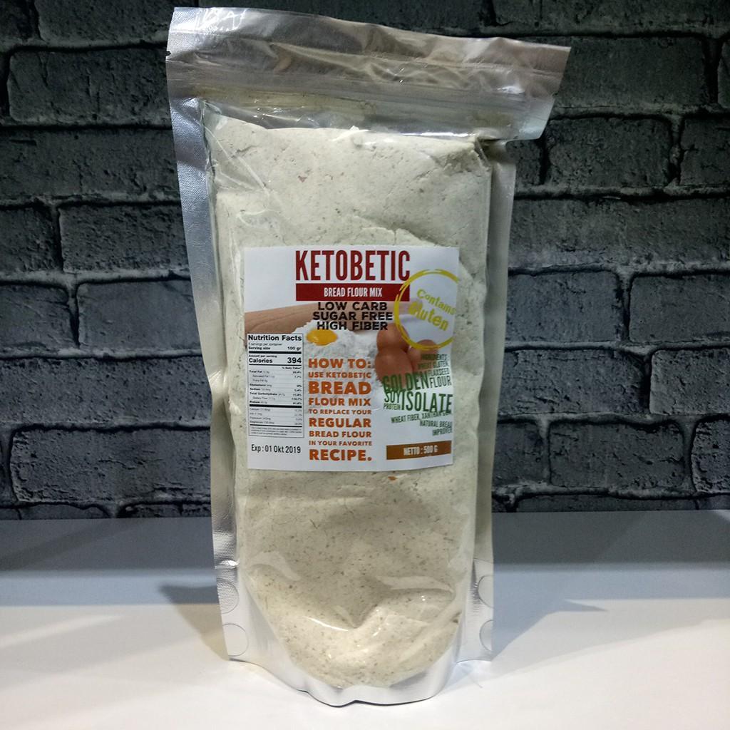 Tepung Ketobetic 500g Bread Flour Mix Premix Roti Keto Variasi Tidak Ada