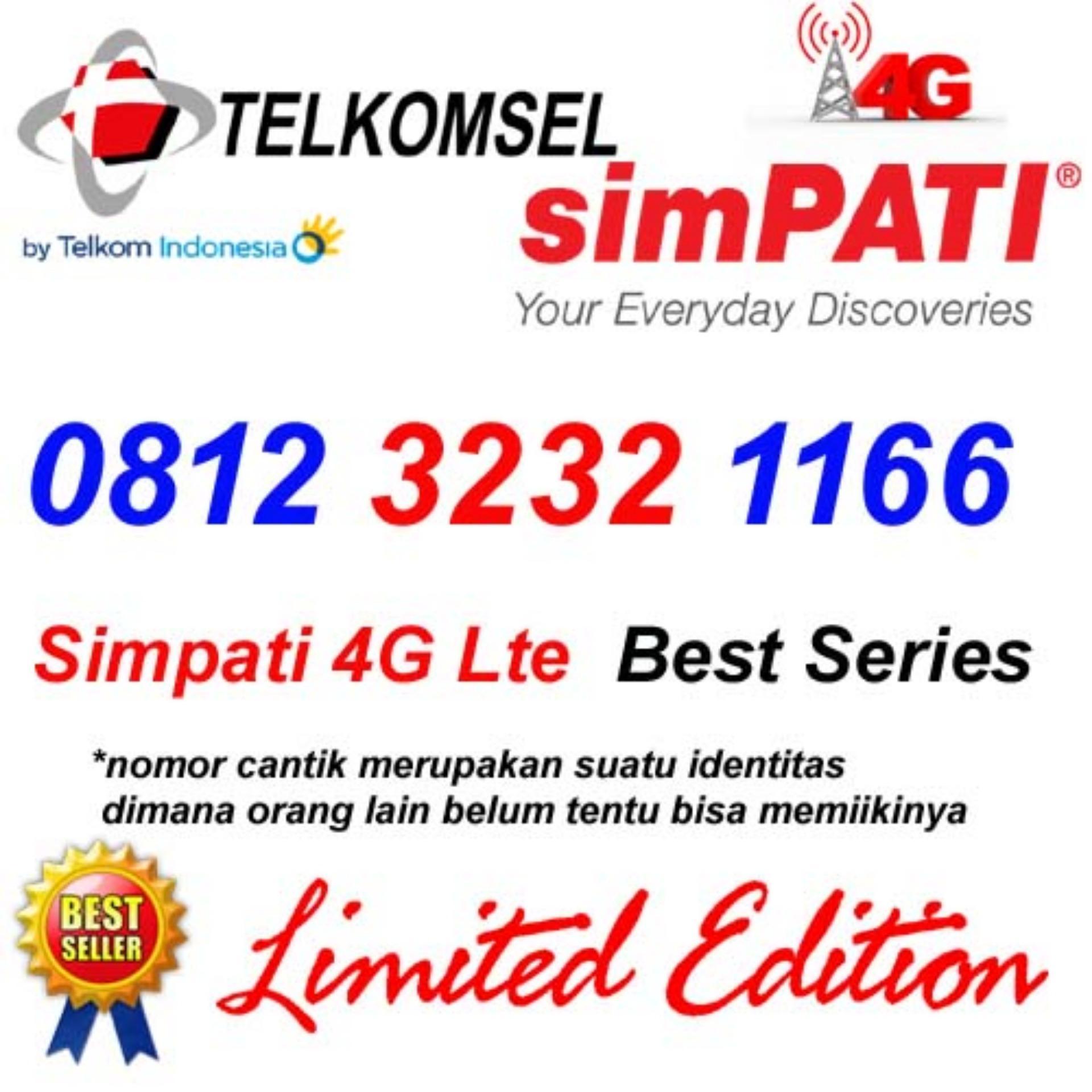 Telkomsel Simpati 4G Lte 0812 3232 1166 Kartu Perdana Nomor cantik