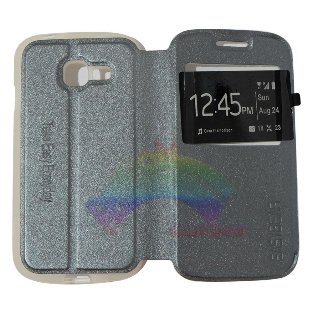 Easy Bear Leather Case Sarung Untuk Samsung Galaxy Young S6310 Pocket Neo Gt S5312 Putih Y Source Obral Easybear Flip Cover Flipshell Casing For A3 2015 A300f With View