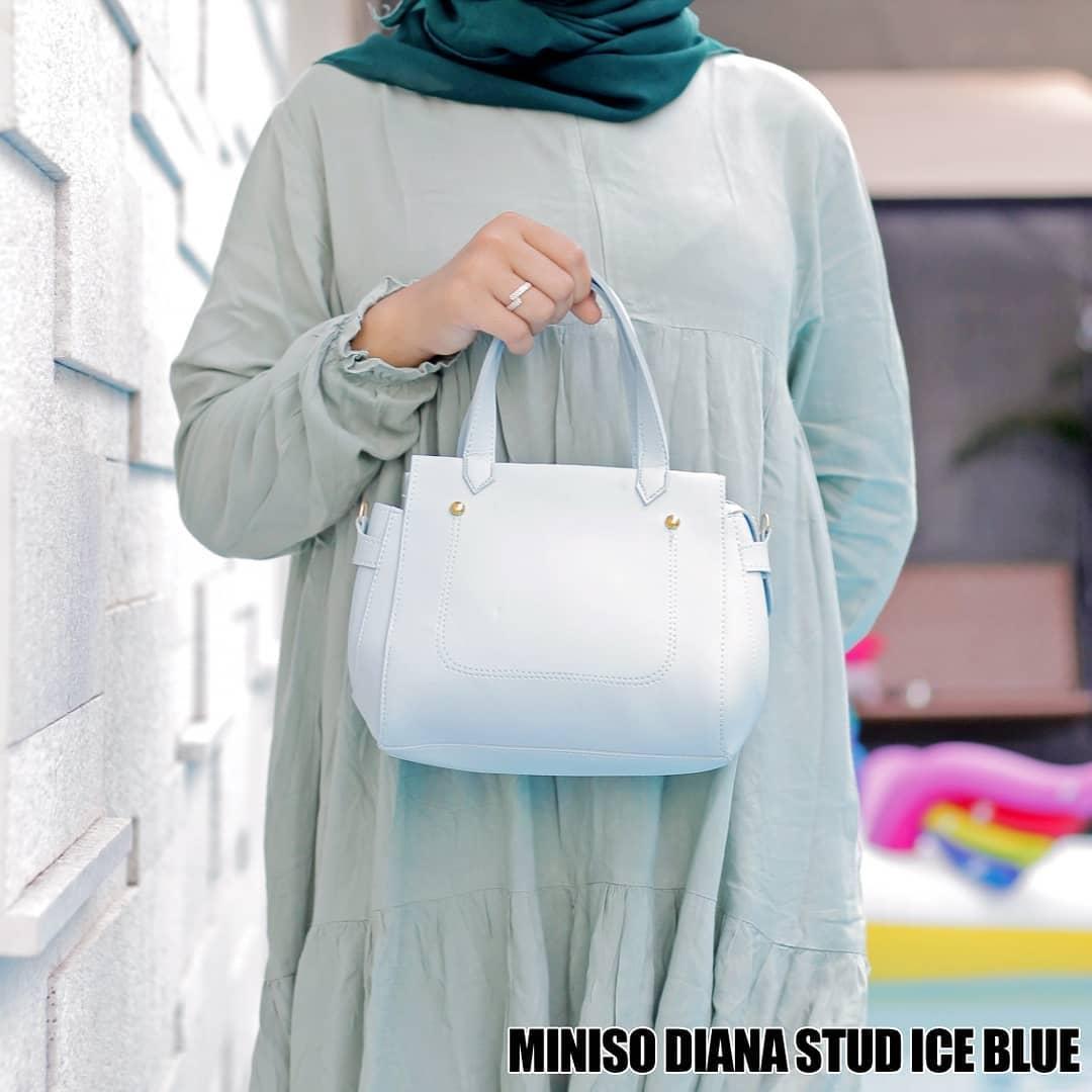 Detail Gambar Ubah Shop Tas Genggam Tas SElempang Miniso Selempang Genggam Ice Blue Terbaru