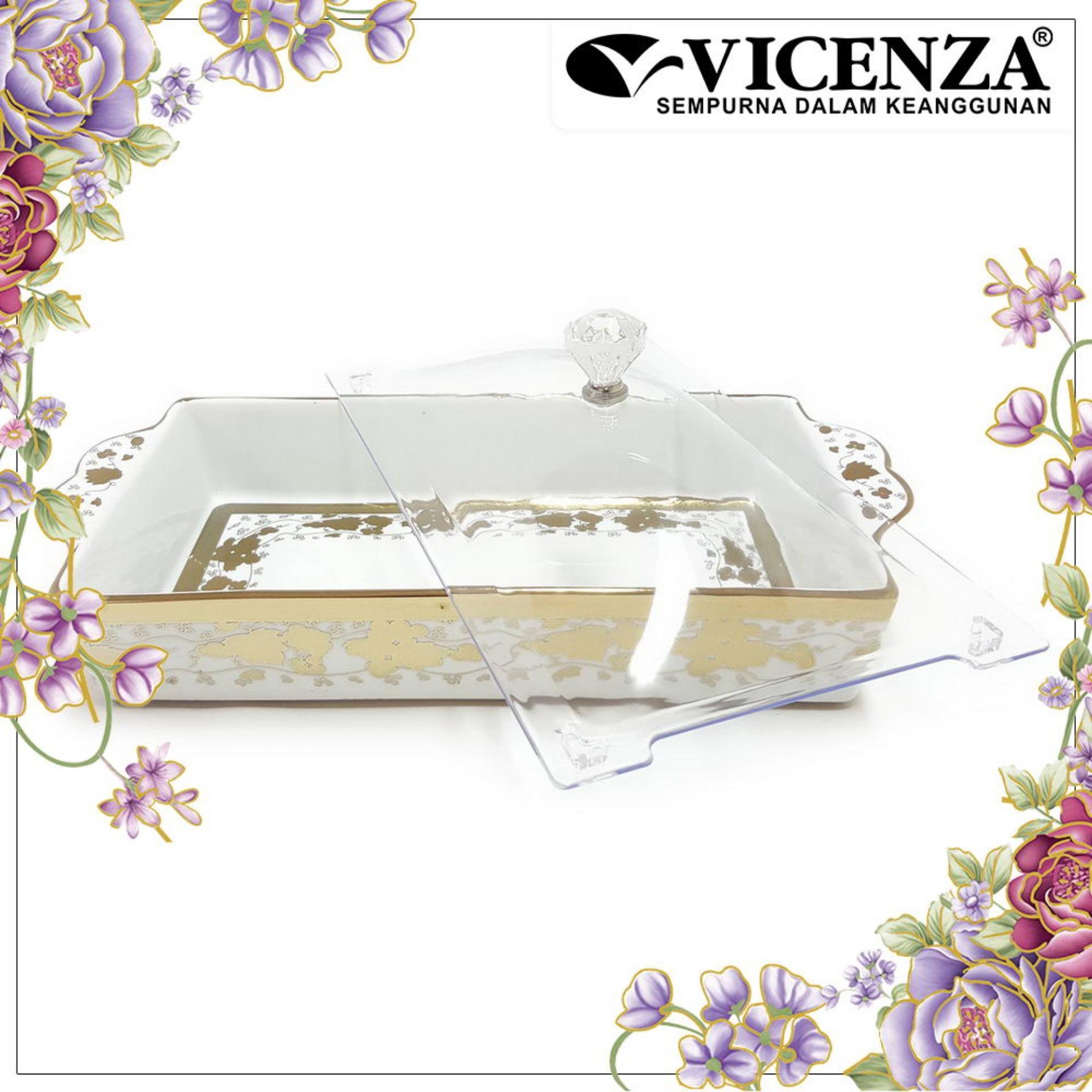 Ulasan Tentang Vicenza Tableware Crp138 Tempat Kue Persegi Square Cake Plate