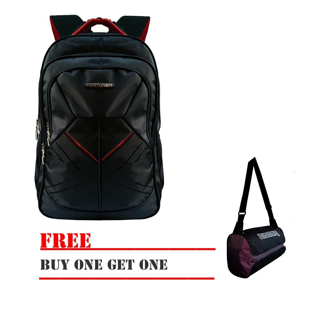 Ziven collection Tas Ransel Pria Fortuner 9701-18ZV BackPack Embos 18 Inchi Polyester Nylon Original