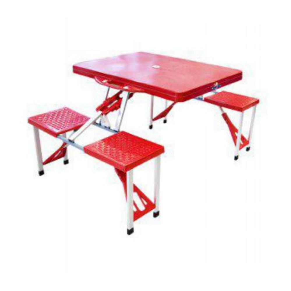 Meja kursi Lipat Portabel warna HIJAU, cocok untuk cafe, piknik dll