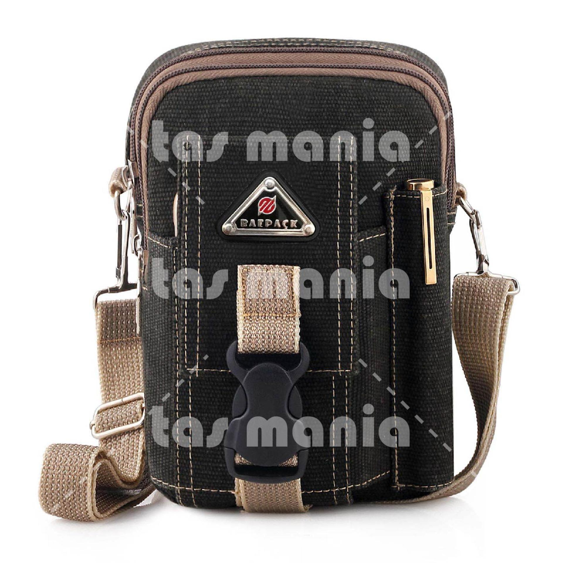 Kelebihan Tas Selempang Baepack Pinggang Pria Army Tactical Mini Digger Triangle Molle Canvas Waist Small Bag Military Dark Grey