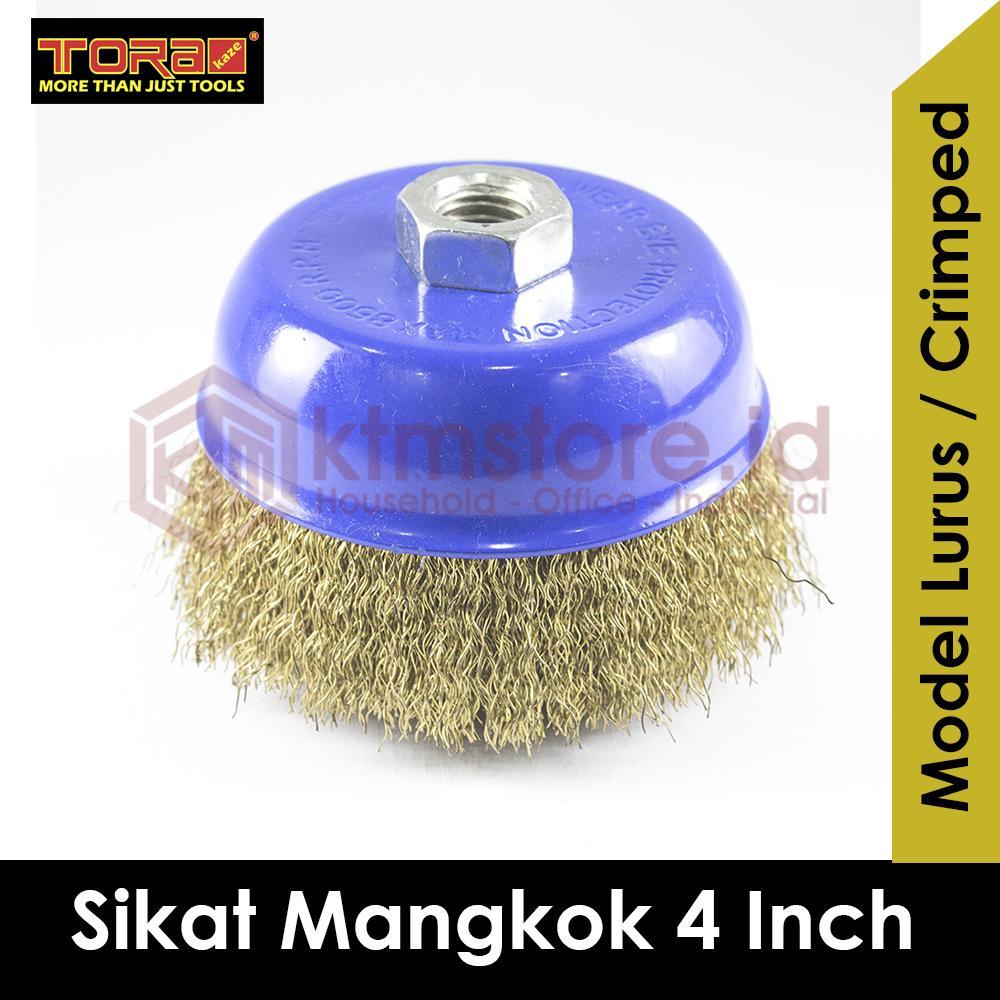 TORA Sikat Mangkok Cup Brush Lurus 4 Inch TRWWB4