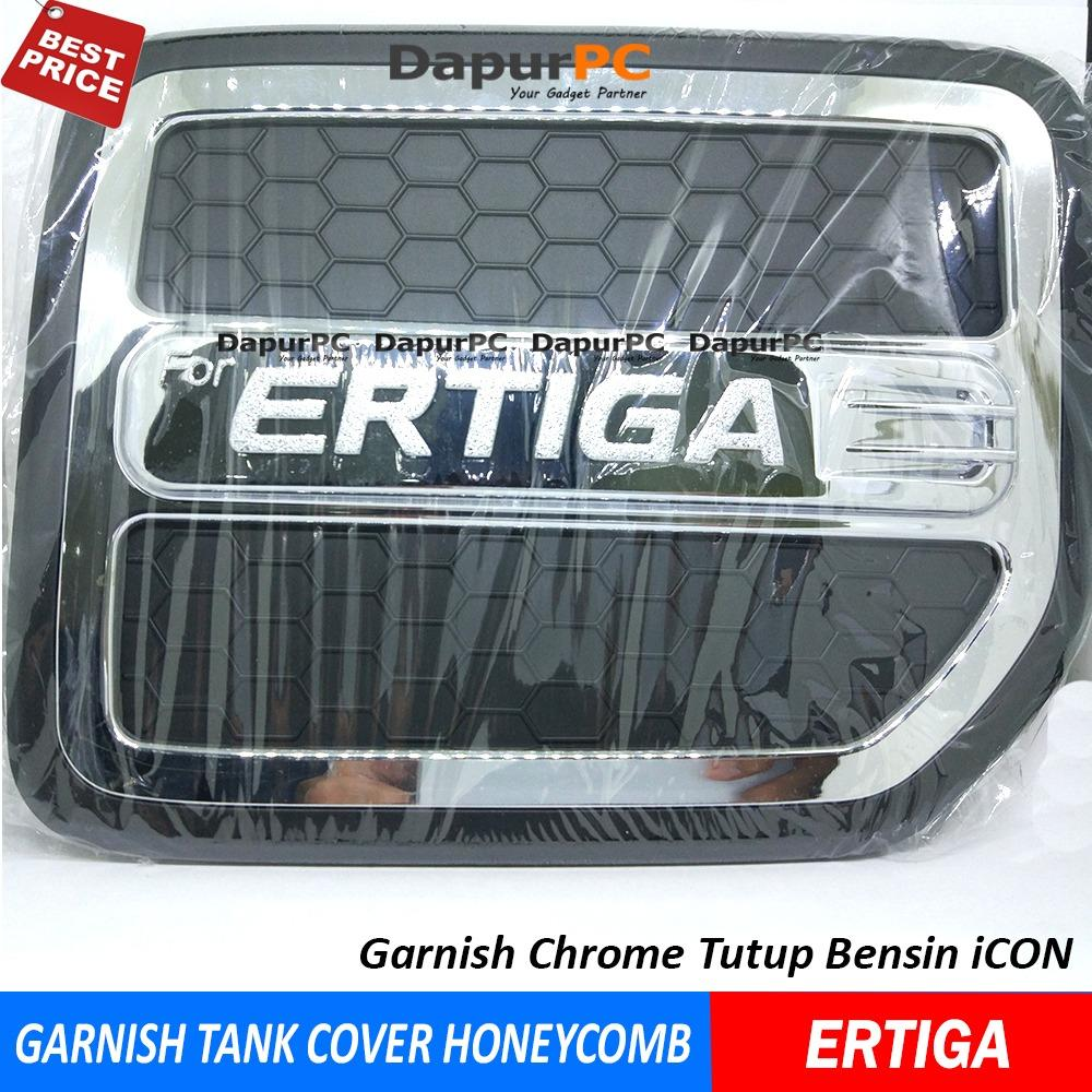 Tank Cover Mobil SUZUKI ERTIGA Honeycomb - Garnish Tutup Bensin ICON