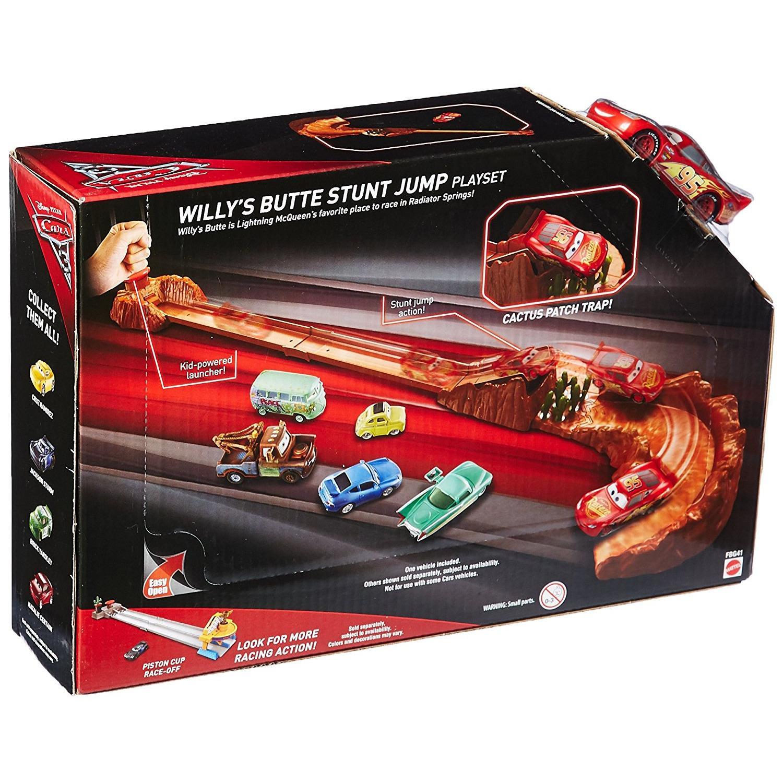 Detail Gambar Disney Pixar Cars 3 Willy's Butte Stunt Jump Playset Terbaru