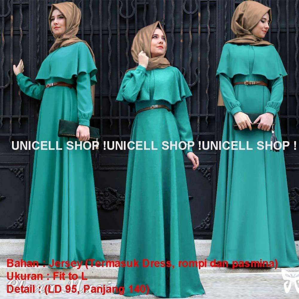 Toko Atasan Wanita [Best Seller] Baju Maxi Long Dress GAMIS Kirana / Hijab Muslimah