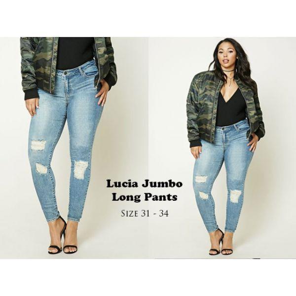 Celana Jeans Wanita Jumbo Lucia Celana Panjang Skinny Cewek Model Terbaru
