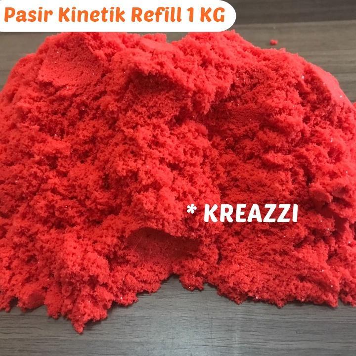 pasir kinetik refill 1 kg – merah – magic kinetic play s/ pasir ajaib