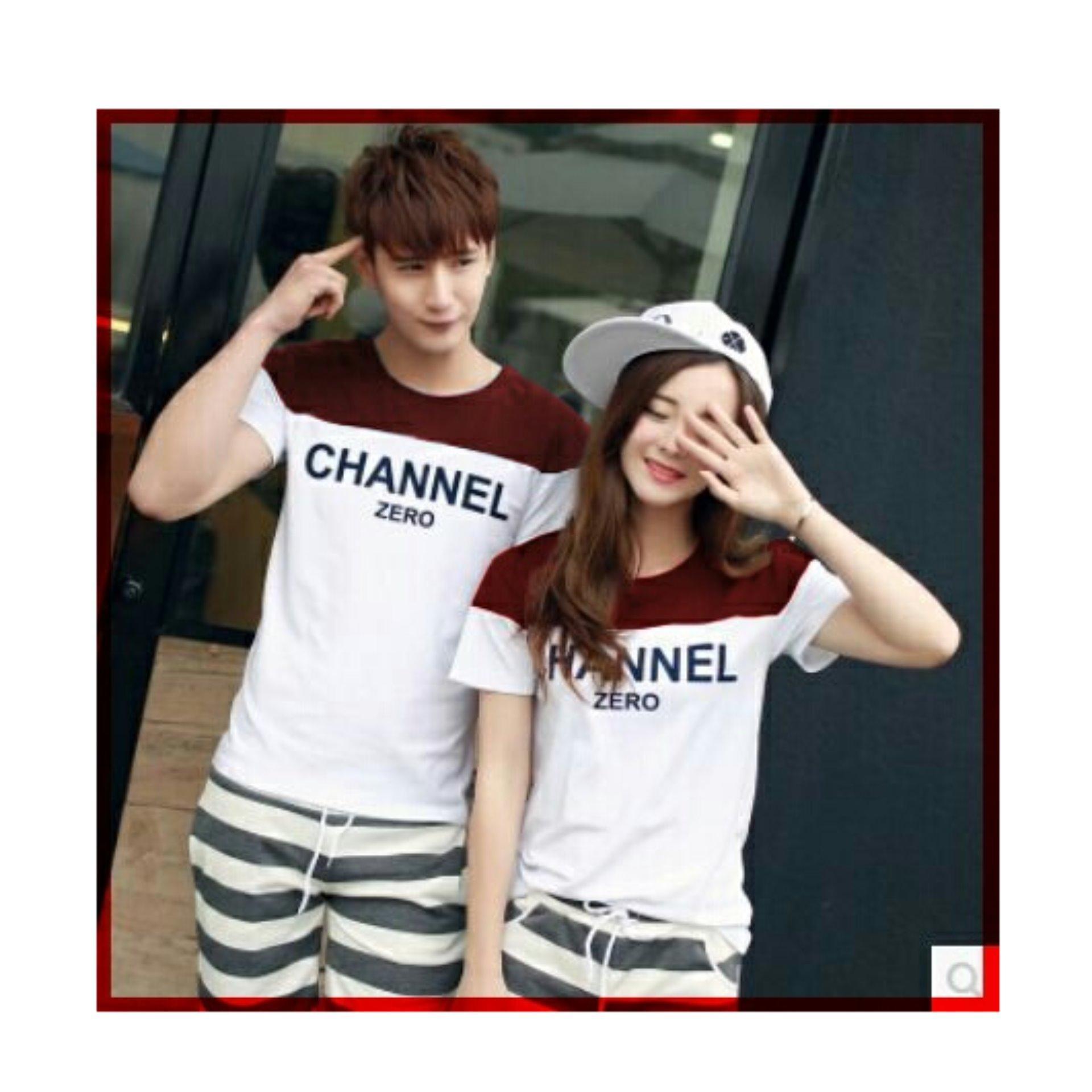 Kaos Couple Chanel