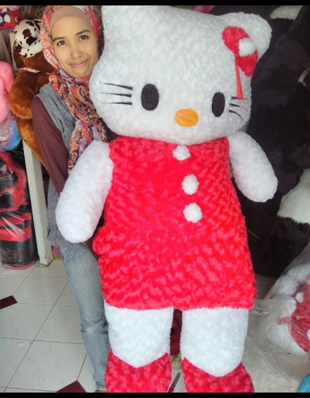 Fitur Boneka Hello Kitty Rok Super Jumbo 1m Dan Harga Terbaru 1 2