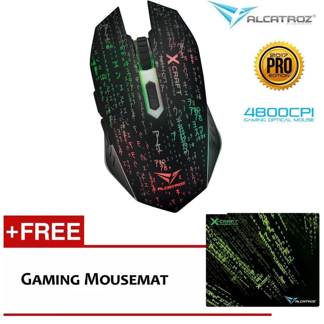 Jual Alcatroz Gaming Mouse X Craft Pro Z8000 Noiz Macro Programing Mouse Pad Powerlogic Branded