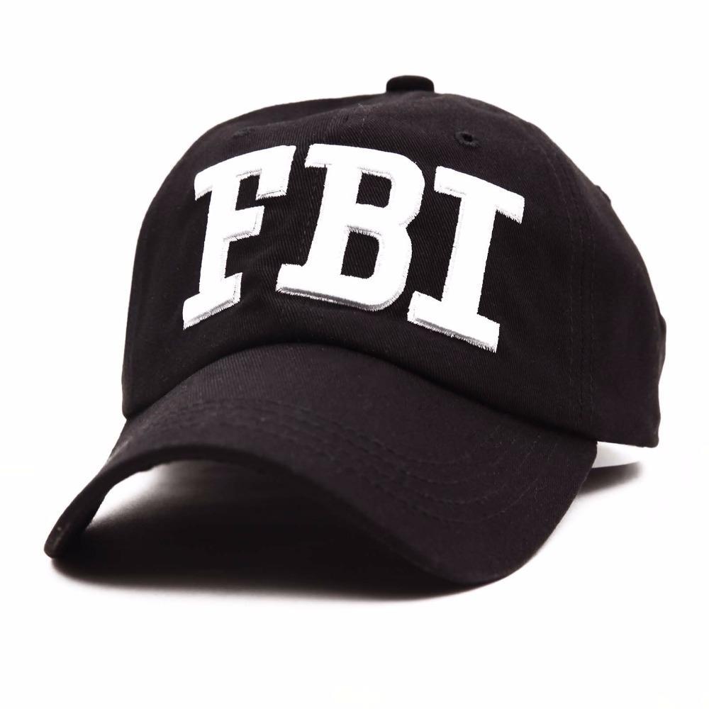 Fashion FBI Topi Bisbol Topi Snapback untuk Pria Wanita Topi Tulang Topi  Snap Back fe76b7aba5