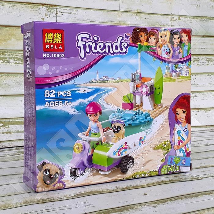 promo Mia's / Mia Beach Scooter LEGO Friends - Brick BELA 10603 original