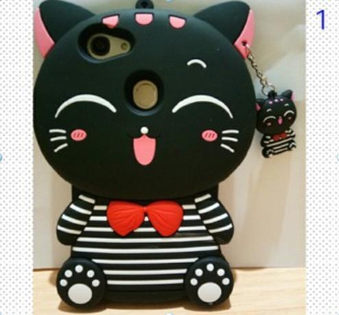 Case 4D Mimi Cat For Oppo F7 Karakter Soft Silikon 3D Mimi Cat Case Kucing  Boneka eeb80d7a43
