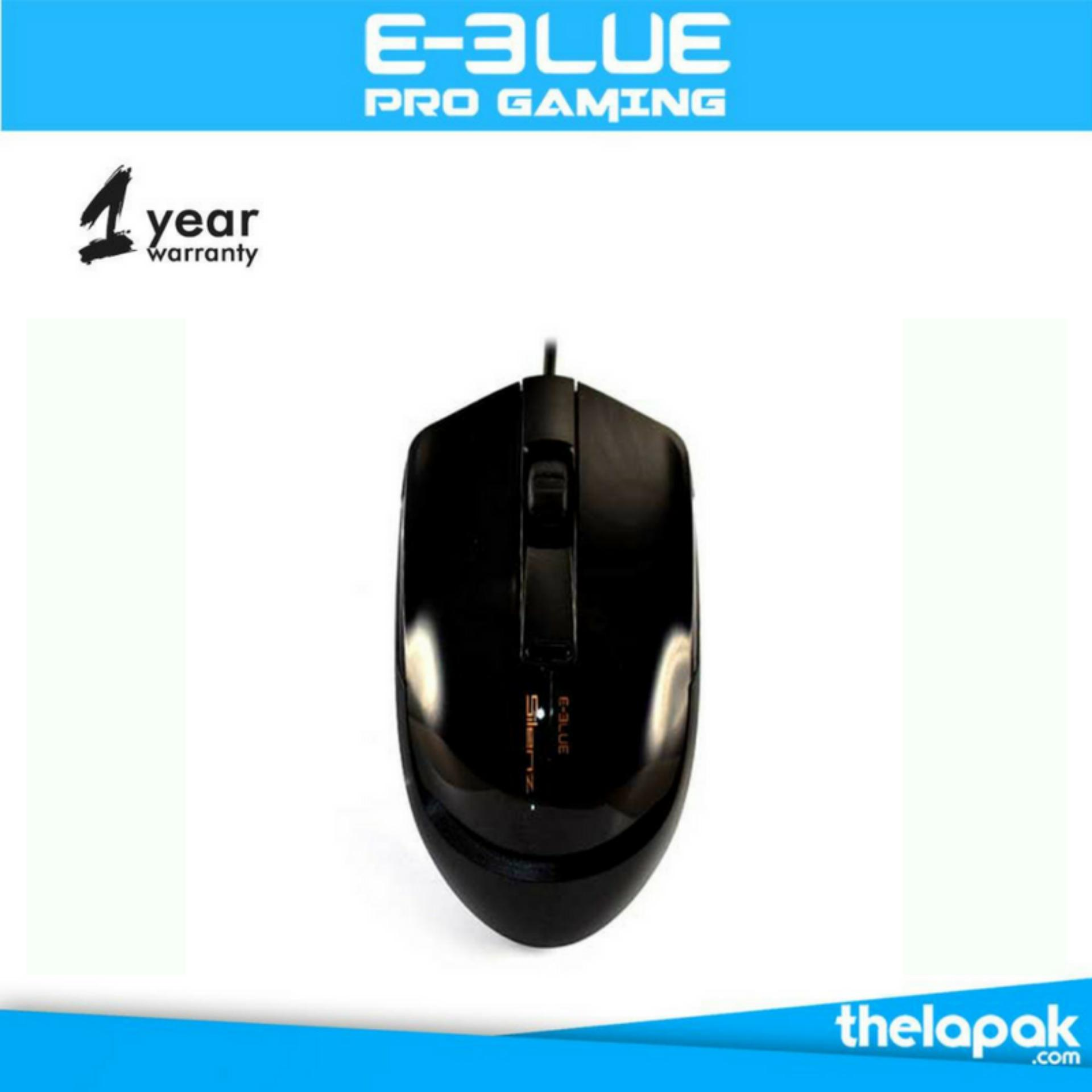 Harga E Blue Silenz Adjustable Dpi 2400 Silent Button Usb Wired Mouse Hitam Dan Spesifikasinya