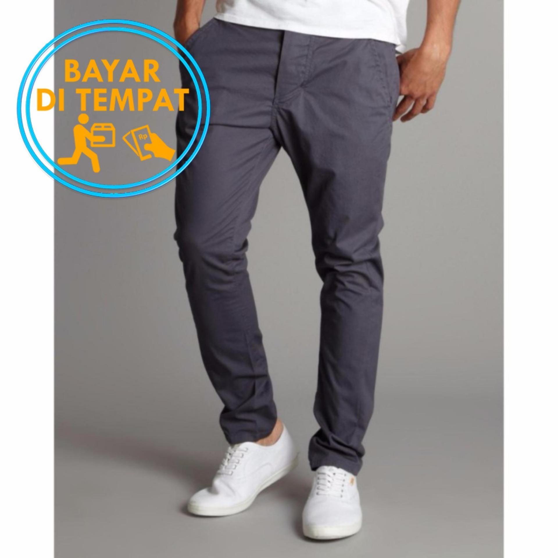 Spesifikasi Celana Chino Pant Abu Tua Merk Malmo Impresif
