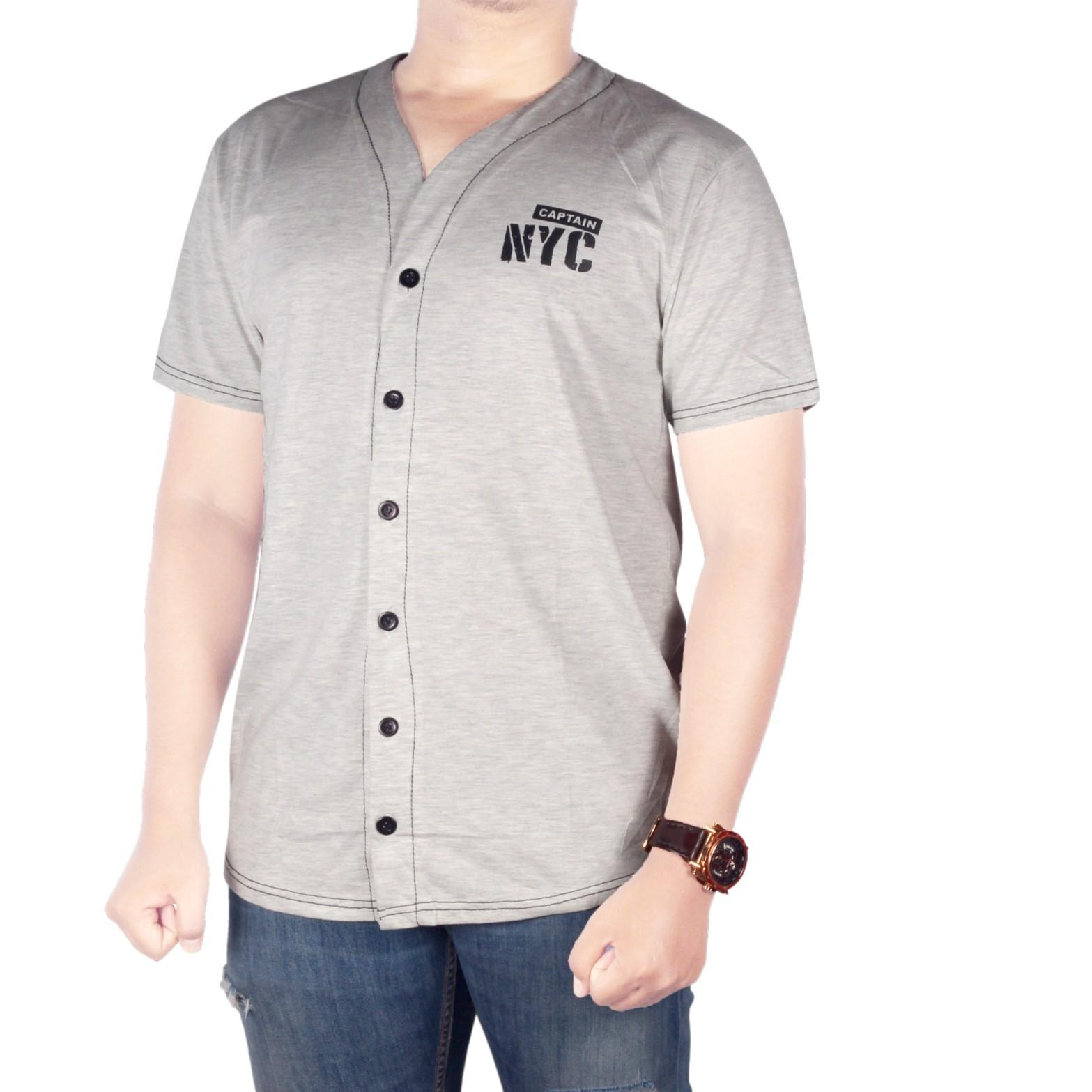 Dgm_Fashion1 Kaos Distro Pria Baseball Putih/T-Shirt Baseball Man Blue Supreme/Baju