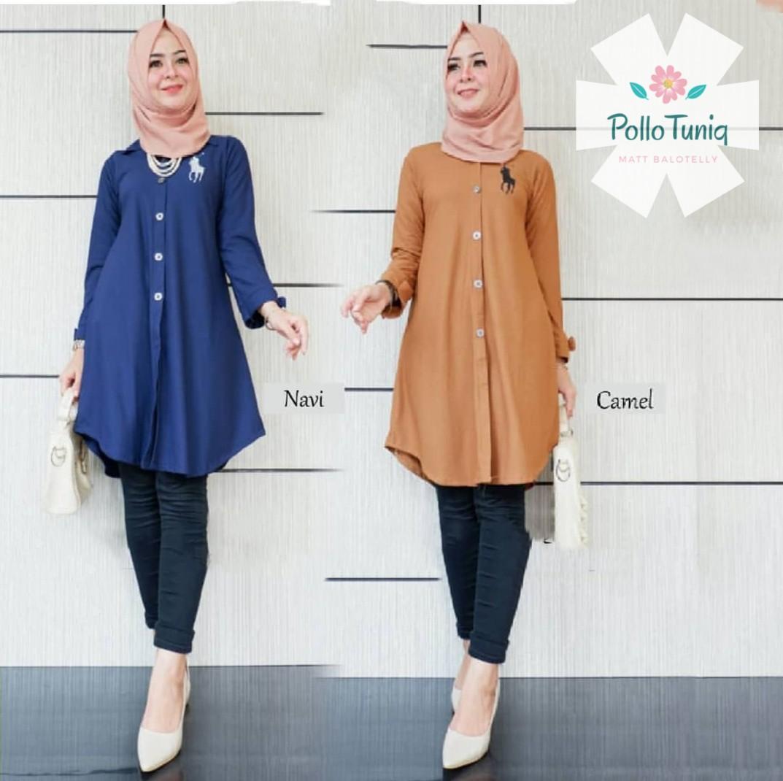 ... Pakaian Terbaru 2018 Modern. Source · Baju Muslim Original Blus Pollo  Tunik Baloteli Panjang Blouse Hijab Tunic Modern Fashion Baju Wanita Atasan 87b4fb40d5