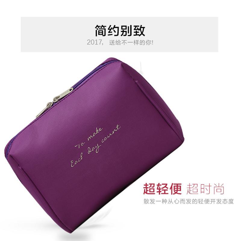 Ningduo item baru Tas kosmetik Tas tangan tas ponsel minimalis Tiga Dimensi multi-lapisan lebih Ruang Tas kosmetik perjalanan Tas Digital - 3