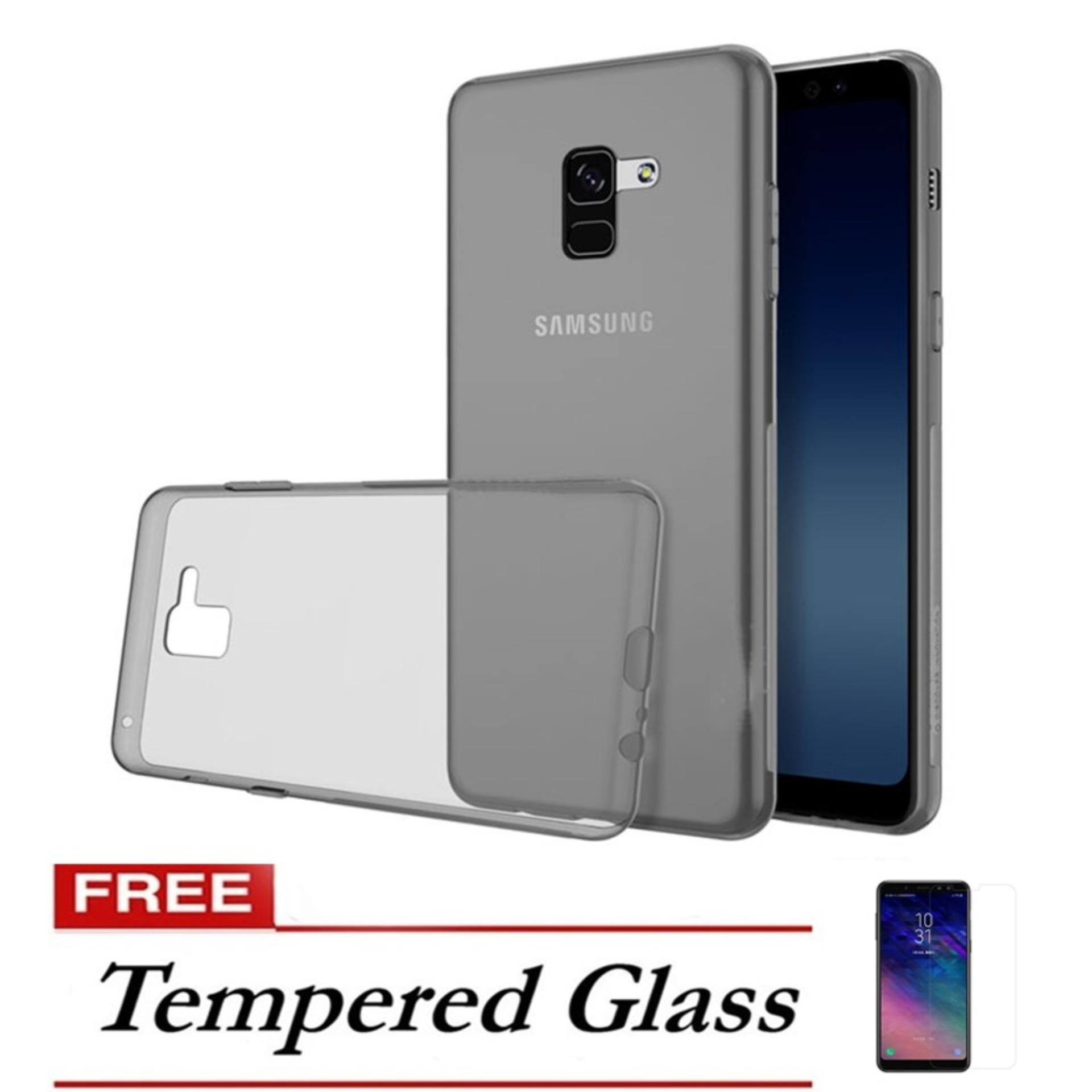 Case Ultrathin Slim Anti Jamur 0.33mm For Samsung A530f A8 2018 – Abu FREE Tempered Glass