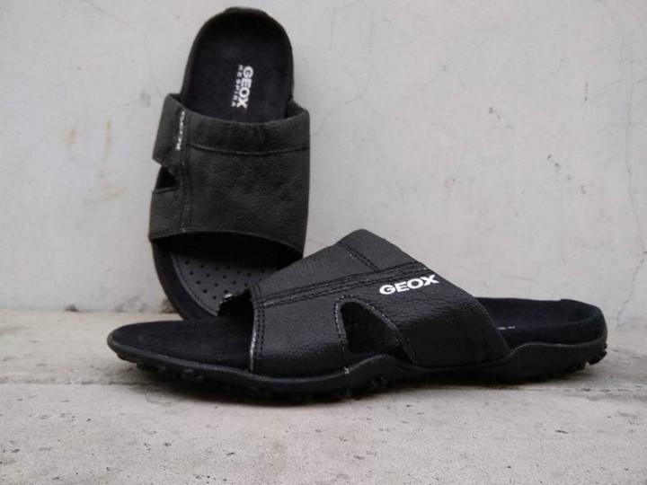Sandal GEOX Pria bahan kulit suede model elegan nyaman dipakai - 2
