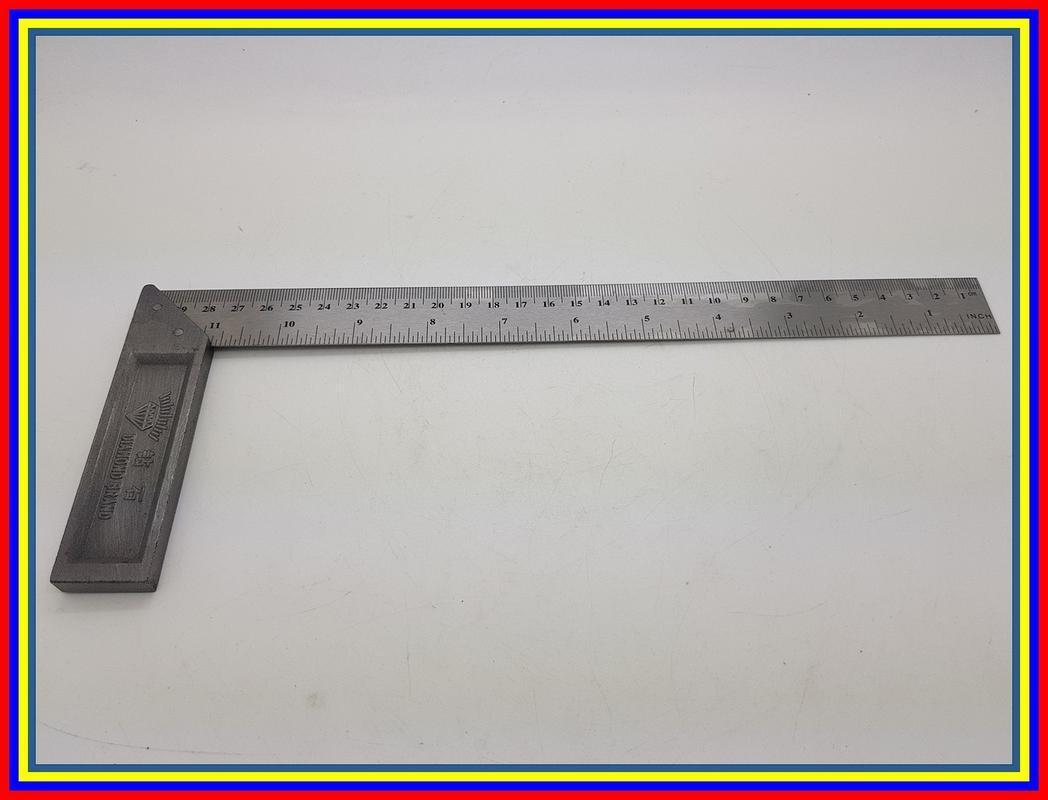 Kelebihan Bison Siku Meter Tukang Penggaris Besi Panjang 12 Inch 30 Meteran Tebal Pengaris Cm X 1 Pasekon