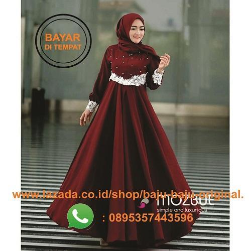 Baju Original Gamis Pajjera Dress Balotelly Baju Wanita Gamis Baju Terusan  Panjang Baju Kerja Gaun Pesta 56a1f084fa