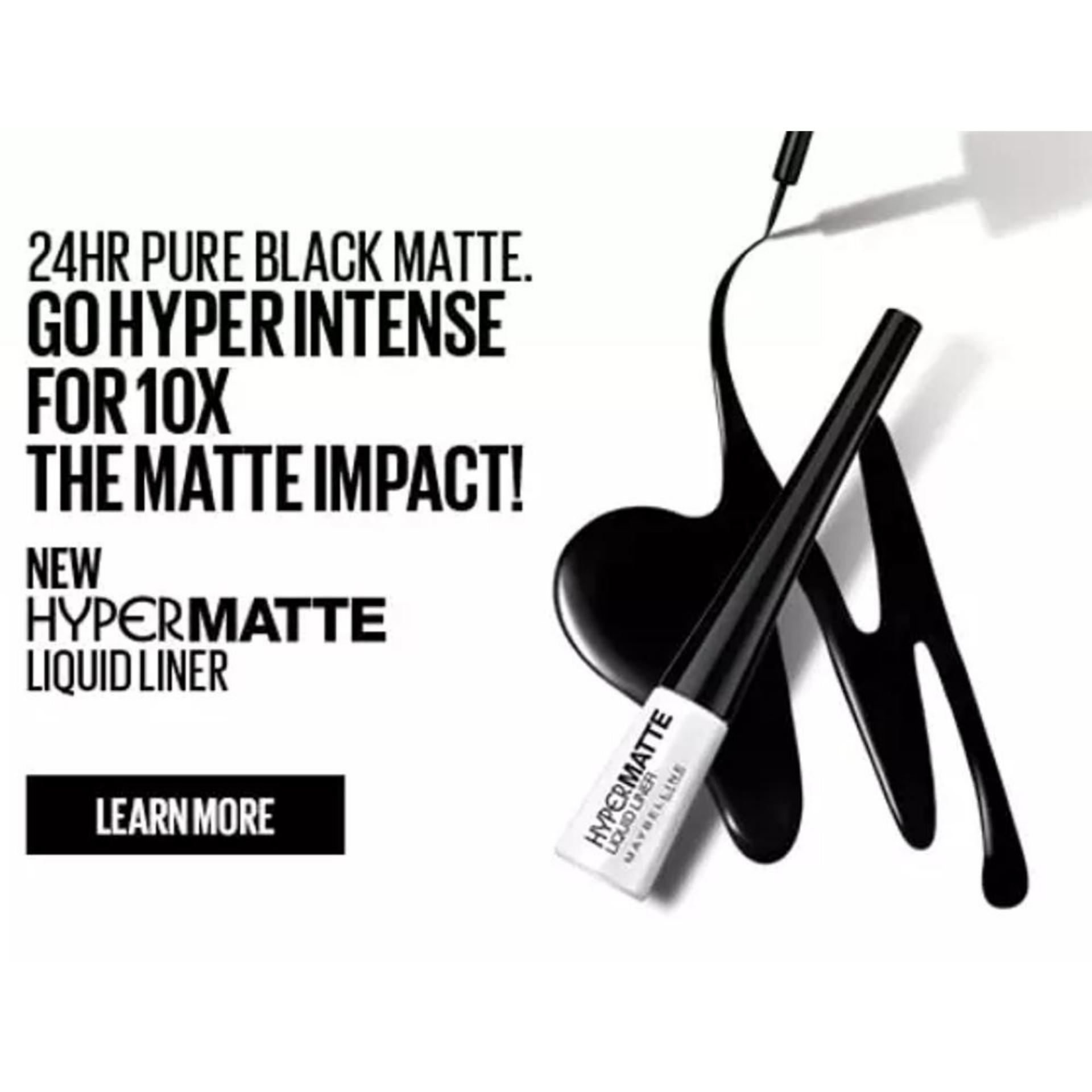 Maybelline Eye Liner Hyper Matte Hitam2 Daftar Harga Termurah Dan Hypermatte Liquid Blister Black 3g Hitam 3