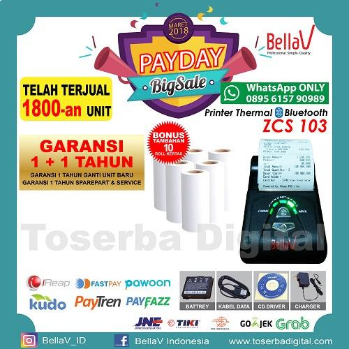 Review Printer Bluetooth Bellav Zcs 103 Support Paytren Fastpay Ireap Bella Vision
