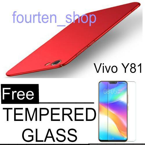 Hardcase case For Vivo Y81 Baby Skin Slim + Tempered Glass Protecktor Flm-BENING_fourten_shop