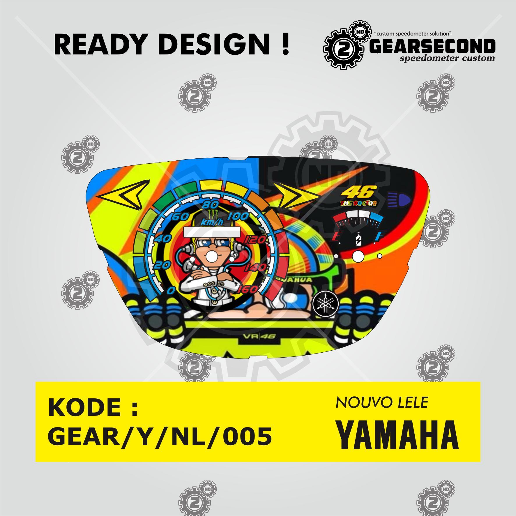 Fitur Ready Design Panel Speedometer Custom Yamaha Nouvo Lele