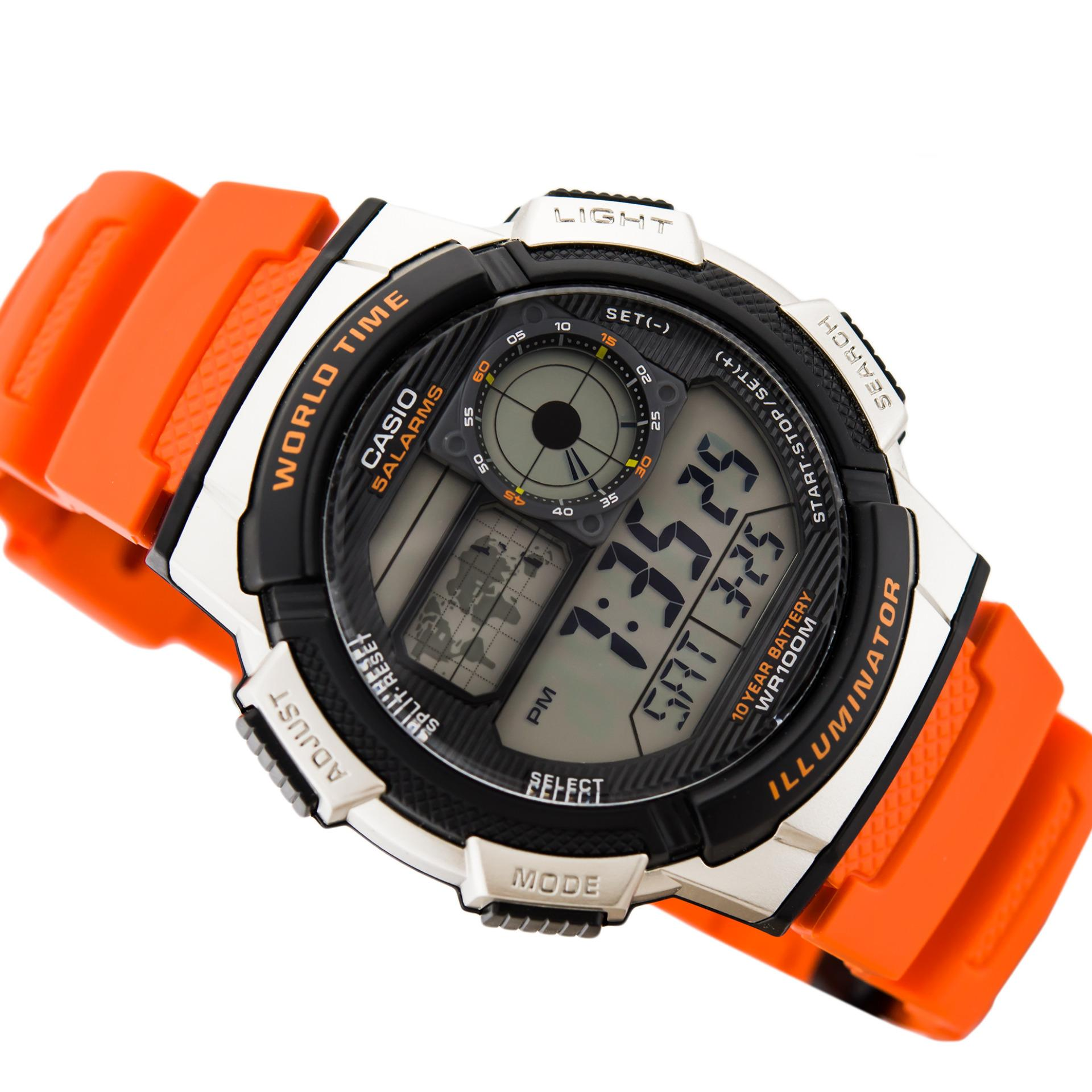 ... CASIO Illuminator AE-1000W - Jam Tangan Pria - Tali Karet - Digital  Movement ... 62a382b40f