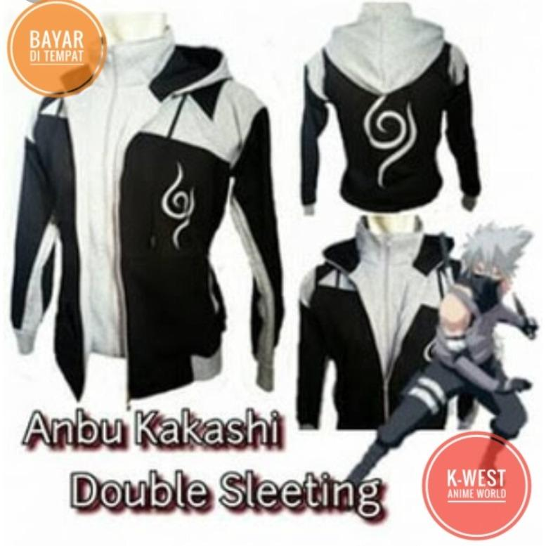 Review Jaket Anime Naruto Anbu Double Zipper Best Seller K West Terbaru