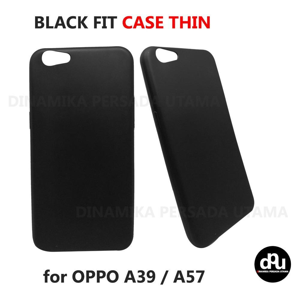 Casing Slim Black Fit OPPO A39 / A57 Softcase Hitam Matte