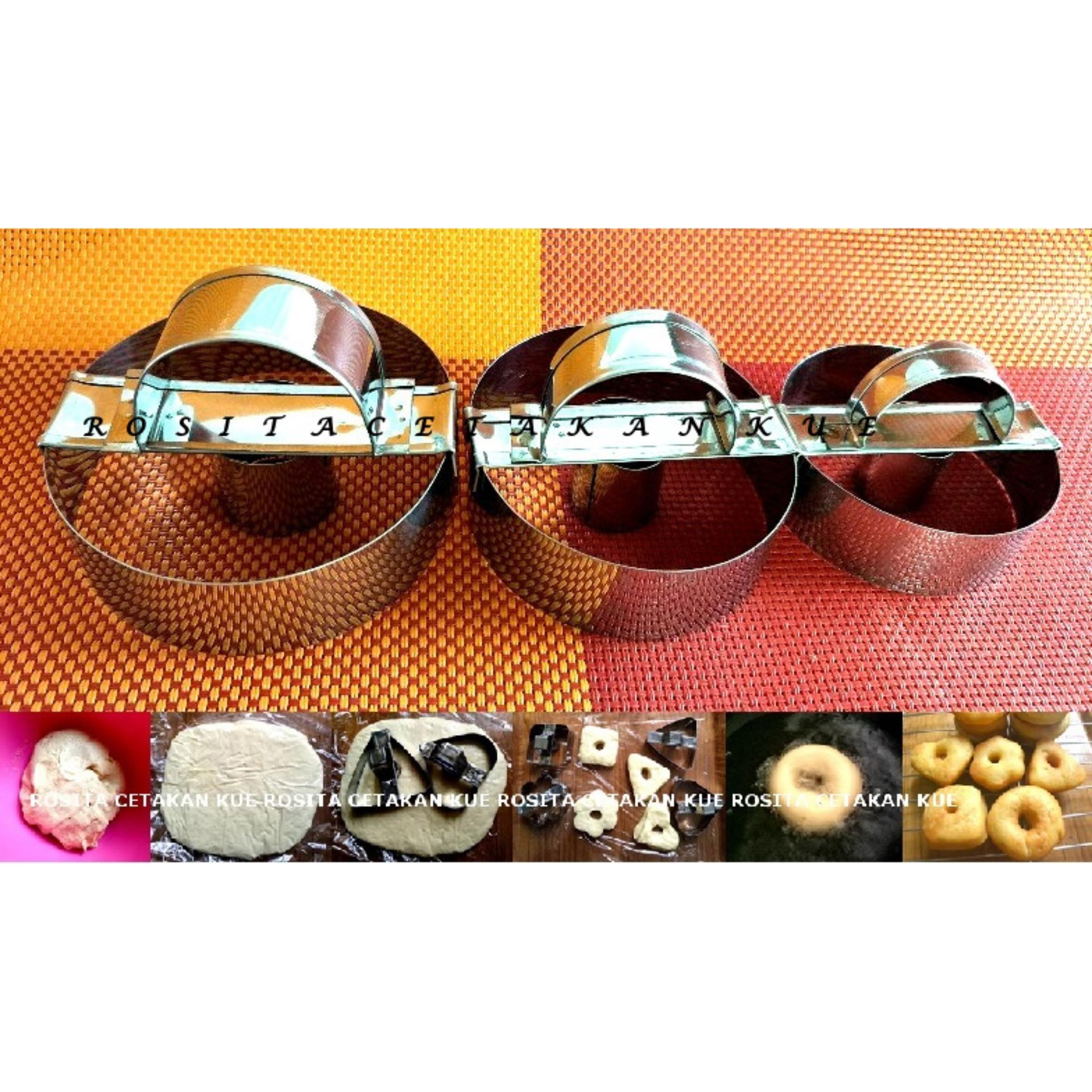 Rosita 3 pcs Cetakan Donat Bulat Stainless Steel