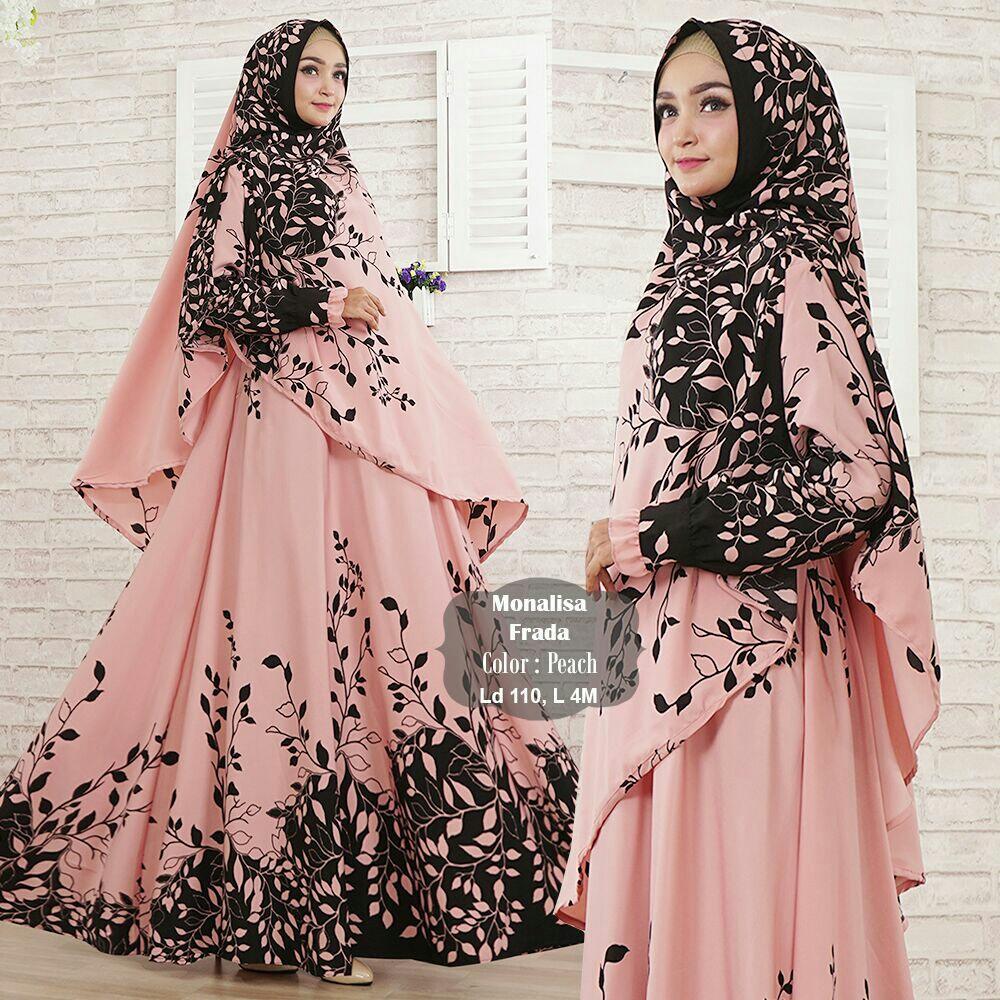 Spesifikasi Humaira99 Gamis Syari Muslim Busui Gaun Dress Hijab Muslimah Atasan Wanita Monalisa Lengkap