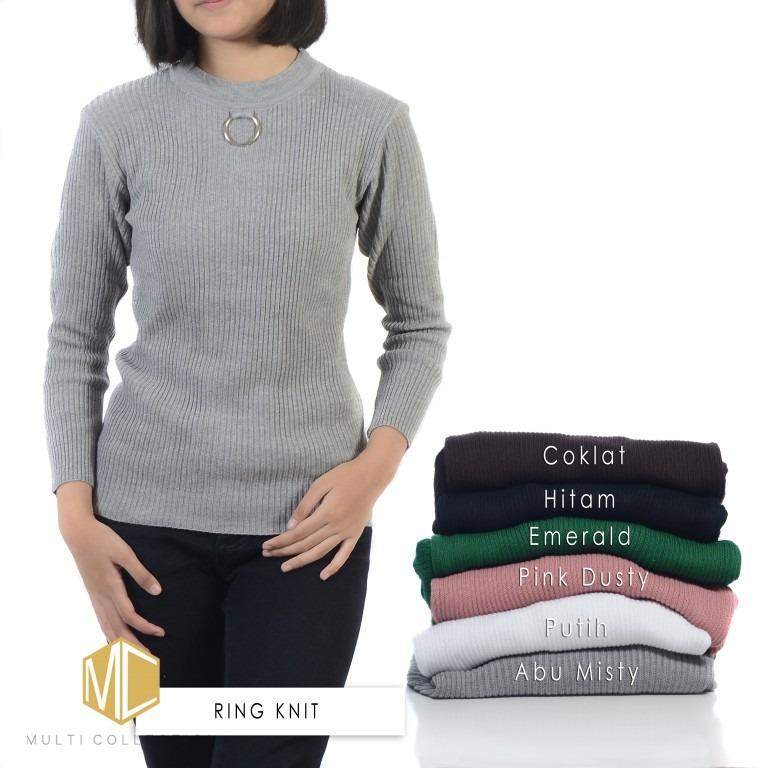 Galeri Gambar RING KNIT COKLAT | Sweater Rajut | Sweater Korea | Baju Rajut Korea |