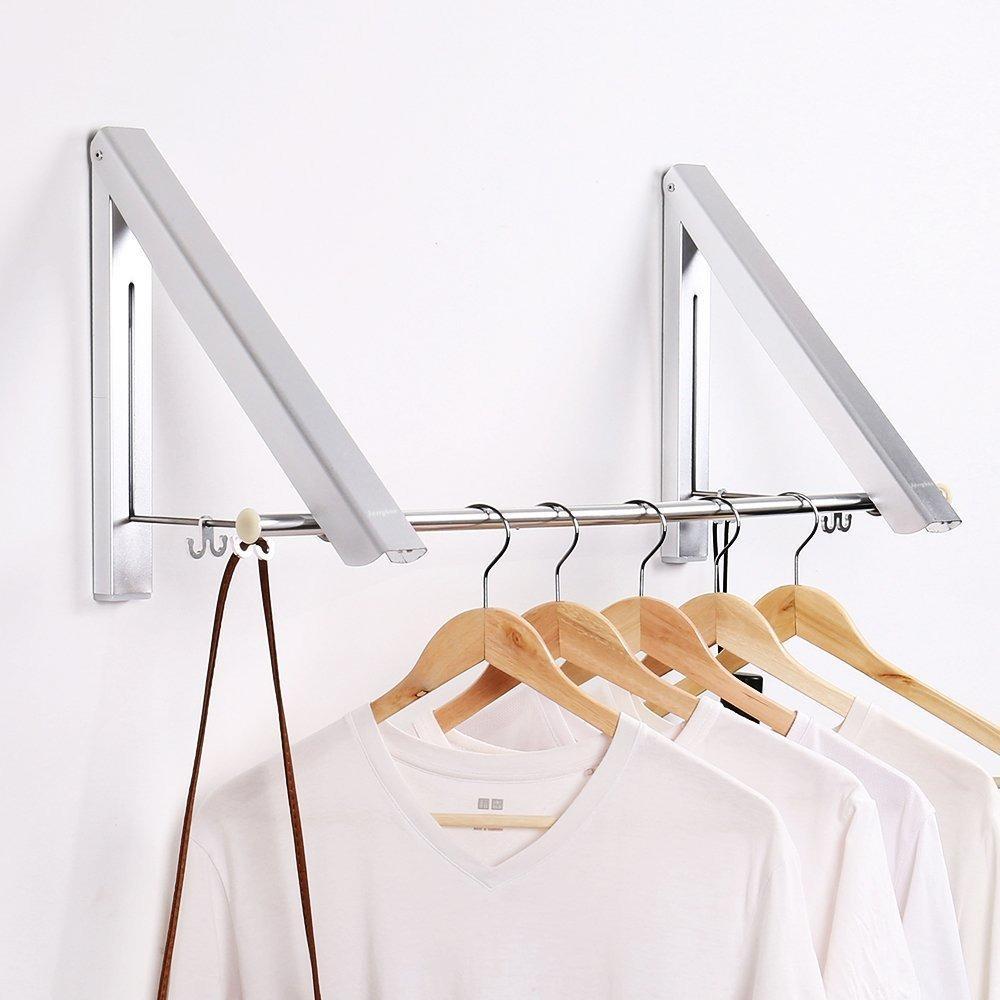 Fitur Gantungan Dinding Lipat Folding Wall Hanger Jemuran Pakaian Lion Star Baju Bulat 16 Stik 3