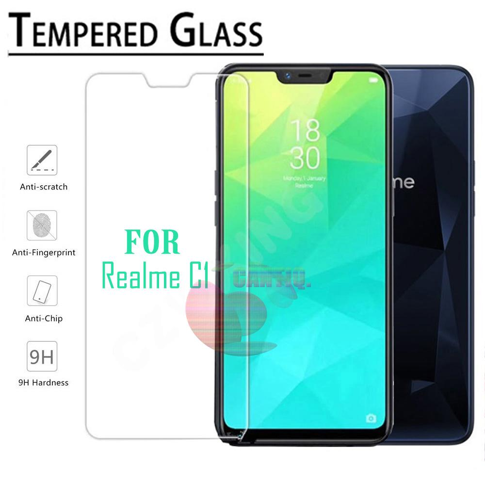 Icantiq Temper Glass Realme C1 Ukuran 6.2 Inch Tempered Glass Realme C1 Anti Gores Kaca 9H