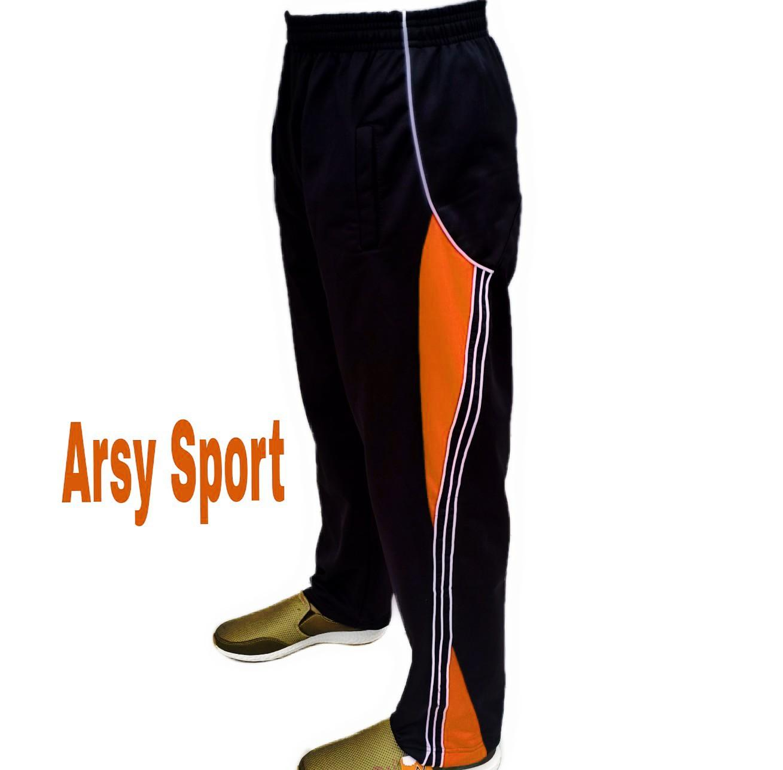 Arsy Sport / Celana Training / Celana Pria / Celan Olahraga / model lis 3 Hitam